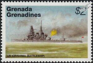 WWII IJN KIRISHIMA Imperial Japanese Navy Kongo-Class Battleship Warship Stamp