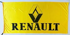 RENAULT FLAG YELLOW - SIZE 150x75cm (5x2.5 ft) - BRAND NEW