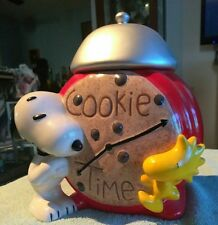 Vintage Snoopy And Woodstock Cookie Time Cookie Jar