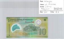 BILLET NICARAGUA - 10 CORDOBAS (2012) - POLYLMER
