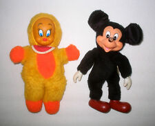 Vintage Vinyl / Rubber Face TWEETY & Mickey Mouse Plush