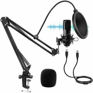 Microphone Condensateur USB Professionel Cardioid Studio 192kHz TAWAPYZ