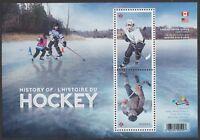Canada 3039 History of Hockey souvenir sheet MNH 2017