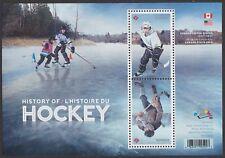 Canada History of Hockey souvenir sheet MNH 2017