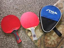 New listing Cornilleau Tacteo Ping Pong Paddle Table Tennis Racket + Stigma Elite Web /bag
