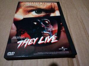 John Carpenter's - They Live (Region 1 DVD) Roddy Piper, Widescreen snapper case