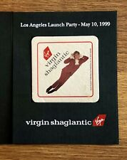 Rare Virgin Atlantic (SHAGLANTIC) Airline 1999 Promo Drinks Coaster, Collectible