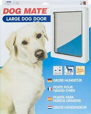 Lockable Large Dog Flap  / Cat Flap For Upvc / Timber Door - White (216W)
