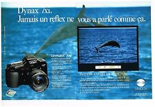 Publicité Advertising 1991 (2 pages) Appareil photo Dynax 7 Xi