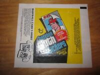 1978 Rare Vintage Topps Sports Cards Wax Wrapper Baseball Cloth Stickers