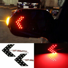 (2) Red 14-SMD LED Arrow Lights for Car Side Mirror Turn Signal Blinker Retrofit