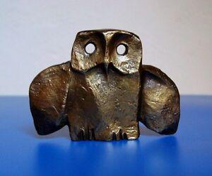 Owl With Bird Wings Art Sculpture
