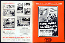 GUNS, GIRLS AND GANGSTERS 1959 Mamie Van Doren, Lee Van Cleef UK CAMPAIGN BOOK