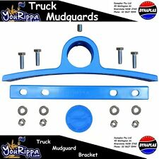 LIGHT BLUE AMPOL PLASTIC TRUCK MUDGUARD HANGER BRACKET KIT SEMI TRAILER TRUCKS