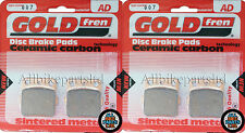 YAMAHA YFM 600 GRIZZLY HUNTING 2000 SINTERED FRONT BRAKE PADS (2xSETS) GOLDFREN