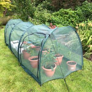 3x1x1m Allotment Plant Protector Garden Net Mesh Tunnel Cloche Mini Greenhouse
