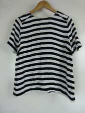 Sussan Short Sleeve Striped Regular Size Tops for Women