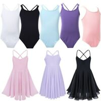 Ballet Dance Dress Leotard Gymnastics Kid Girls Dancewear Bodysuit Costume