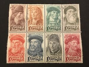 old stamps  PORTUGAL block of 8