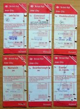 British Rail Tickets(6) - Huddersfield, Liverpool, Exeter, Norwich etc 1970/80s