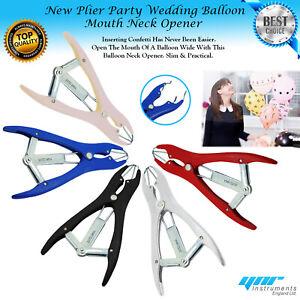 Party Wedding CONFETTI APPLICATOR Big Small BALLOON Mouth Neck Opener NEW Plier