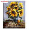 Sunflower Digital Oil Painting DIY Handpainted Oil Paintings Canvas Drawing Home
