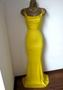 Brand new Lipsy yellow fishtail MAXI dress size 12