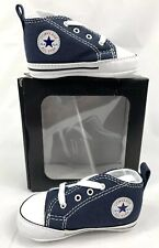 CONVERSE NEWBORN CRIB Navy Blue 88871 FIRST ALL STAR BABY GIRL SHOES SIZE 1 NEW