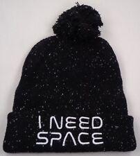 Beanie Winter Hat Cap Licensed Nasa I Need Space Black CC