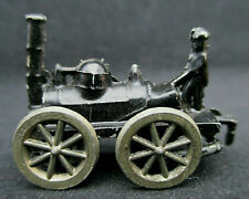 "Miniature Steam Tractor Metal Rolling Wheels Nice Details 1.25"" Collection"