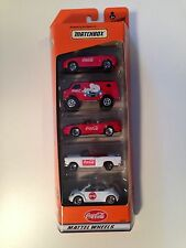 Matchbox Coke 5 Pack Set - Perfect Boxed Unopened MG, VW, Mustang, Bel Air, Van