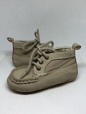 Baby Gap Moccasins Midtop Khaki Baby Shoes Sz 6-12 Months
