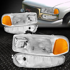 FOR 01-07 GMC SIERRA 1500 YUKON XL DENALI AMBER CORNER HEADLIGHT BUMPER LAMPS