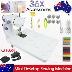 Portable Hand-Held Sewing Machine Home Electric Mini Desktop Kit Needlework OZ