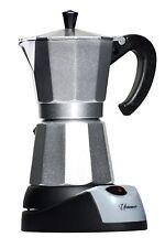 6 Cups Aluminum Electric Coffee Maker, 480 W, Silver