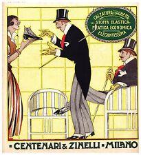 PUBBLICITA' 1914 CENTENARI E ZINELLI  STOFFA ELASTICA CALZATURE SCARPA GHETTA