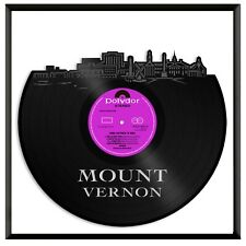 Mount Vernon New York Vinyl Wall Art Cityscape Home Room Decoration Framed