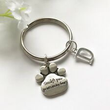 PET MEMORIAL Keyring Keychain Dog Cat Paw Print, Pet Gift, In Memory, Animal