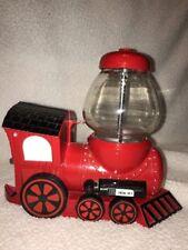 Train Engine 9 Gumball Machine Bank With Glass Globe Ball Top Metal Cast Iron