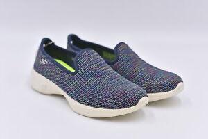 Women's Skechers Go Walk 4 - Select Slip On Loafers, Navy / Multi, 6