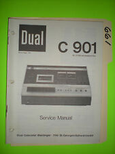 Dual C 901 Service Manual Original Reparatur Buch Stereo Tape Deck Player