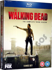 The Walking Dead Complete Third Season Blu-Ray Horror TV Series 3 Sealed