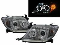 Hilux Vigo MK7 05-11 PRE-FACELIFT CCFL Projector Headlight Chrome for TOYOTA RHD