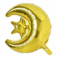 18inch Eid Mubarak Foil Balloons Hajj Mubarak Decor Star Moon Helium Balloon ME