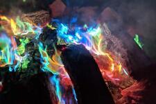 6 PACK MYSTICAL RAINBOW FIRE SACHET COLOURFUL FLAMES BONFIRE FIRE PIT SUMMER FUN