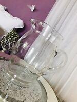 Groß Schön Krug Glaskrug Karaffe Glas älter dekorativ