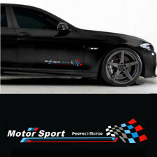 A Set Car Body Side Skirt Stickers Racing Decals For White Motor Sport Decals