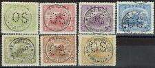 PAPUA 1911 LAKATOI MONOCOLOUR OS 1/2D TO 1/- USED/CTO