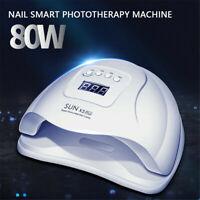 80W LED UV Nail Dryer Lamp Nail Gel Curing Lamp Nail Art Tools Manicure Machine