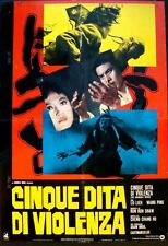 FIVE FINGERS OF DEATH Italian 1F movie poster 1972 SHAW BROS KUNG FU MARTIAL ART